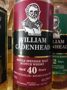 William Cadenhead Speyside 40yo